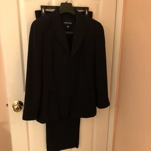 Giorgio Armani Black Pant Suit Set Size 42